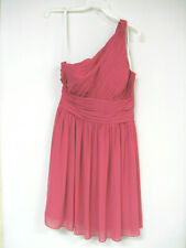 Bill Levkoff Bridesmaid Dress Prom One Shoulder Short Polyester Watermelon 12