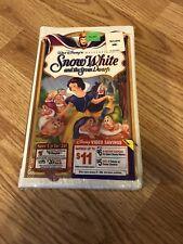 Sealed Snow White & The Seven Dwarfs Vhs 1994 Walt Disney Masterpiece Collection