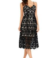 ~KIM~ Black Crochet Evening Party Occasion Cocktail Midi Maxi Dress 8 10 12 14