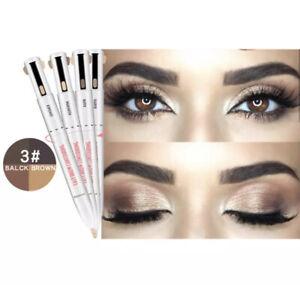 4 IN1 Waterproof Long Lasting Eye brow Pen Blonde Medium Black Brown brow Pencil