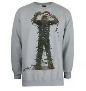 Star Wars Mens christmas jumper - Chewbacca Lights - Size small