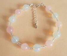 Rose Quartz Opalite Moonstone Gemstone Crystal Healing IVF Fertility Bracelet GB