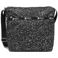LeSportsac Pop Fizz Small Cleo Crossbody Handbag, Black Bag White Polka Dots NWT