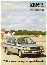 Volvo 340-Series Accessories 1980 UK Market Sales Brochure 343 345