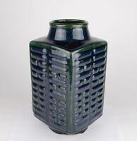 China antique monochrome cobalt Eight Diagrams vase Qianlong seal circa 20C