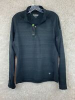 Straight Down Ladies Leslie 1/2 Zip Pullover Size Large Long Sleeve Thumbholes