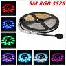 3528 Cool RGB 5M 300Leds SMD Flexible Led Strip Lights DIY Lamp 12V Waterproof
