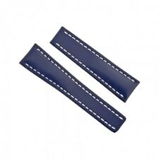 100% AUTHENTIC NEW OEM BREITLING BLUE COLOR CALFSKIN LEATHER STRAP 24-20mm 102X