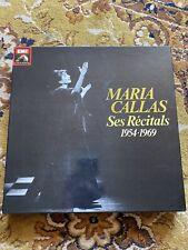Coffret complet Maria Callas Vinyl 33 tours Récitals 1954-1969