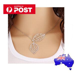 LEAF silver drop Pendant Necklace Alloy Silver Chain Necklace  Fashion Delicate