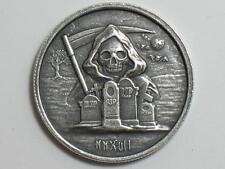 1 oz Grim Reaper Silver Round - Monarch Metals MPM - One Ounce High Relief