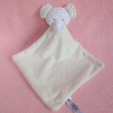 Asda George Bianco Elefante stelle orecchie baby soft toy peluche Trapunta Coperta