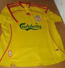 Boys Retro Adidas Liverpool Away Shirt 34 To Fit 28inch Chest