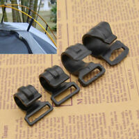 10pcs Camping Tent Pole Clips for DIY Hiking Tent Clip Accessories Kits Black