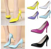 Women High Heels Stiletto Pumps Lady Party Dress Slim Low Shoes Pointy Toe