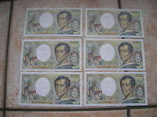 FRANCE LOT 6 BILLETS DE 200 FRANCS MONTESQUIEU CONSECUTIFS ! 1994 NEUF !  (C535)