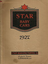 SCARCE STAR MANUFACTURING 1927 TRADE CATALOGUE FOR STAR BABY CARS BABY PRAMS