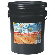 One TIME 00700 Wood Preservative Stain & Sealer,Red Cedar, 5 Gallon Size