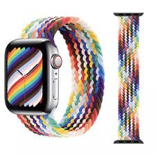 Apple Pride 2021 Rainbow Apple Watch Band Braided Apple Watch SE 6 5 4 3 2 1