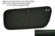 GREEN STITCH 2X REAR DOOR INSERT SKIN COVERS FITS ROVER COUPE CABRIOLET 96-99