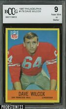 1967 Philadelphia Football #178 Dave Wilcox 49ers RC Rookie HOF BCCG 9