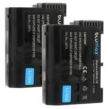BATTERIA 2x per Nikon en-el15 | 65114 | d600 d800 d810 d7000 d7100 d8000 Nikon 1 v1