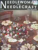 Oct 1952- NEEDLEWOMAN and NEEDLECRAFT No.52 - Complete with Uncut Transfer Page