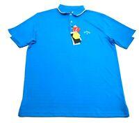 Callaway New Mens Blue Short Sleeve Polo Shirt Size XL