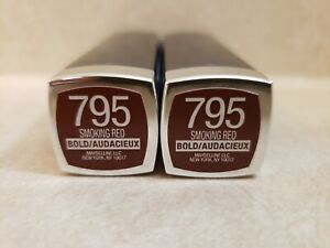 MAYBELLINE COLOR SENSATIONAL BOLD LIPSTICK 795 SMOKING RED 2-PACK