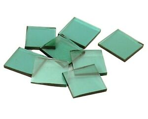 Sea Green Cathedral Triangles | Fusible 96 | Cut Mosaic Glass Tile Shapes