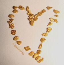 25 GOLDNUGGETS (Geschenk Herz Goldnugget Barren Liebe Gold Nuggets)