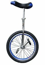 """Unicycle 16"""" Cycling In & Out Door Chrome colored New Blue"""