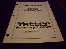 (Drawer 11) Yetter 6000 Series Air Row Unit Planting System Operators Manual