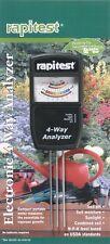 Rapitest: 4 Way Analyzer Electronic Four Soil Tester pH Light Moisture NPL #1880