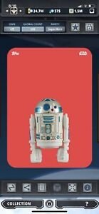 Topps Star Wars Digital Card Trader Red Out Of The Box R2-D2 Insert