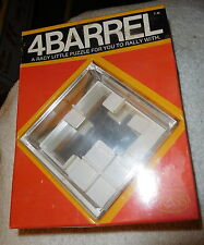 Vintage New sealed 1977  Reiss 4Barrel Marble Puzzle Game brain teaser Orange CA