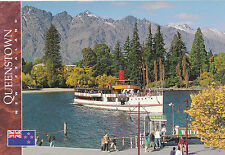 Postcard: Schiff TSS Earnslaw in Queenstown Bay, New Zealand