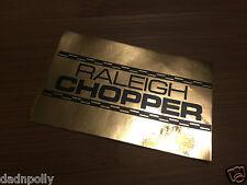 RALEIGH CHOPPER MK 1 SEAT PLATE DECAL - SHINY GOLD - CHOPPER SEAT STICKER