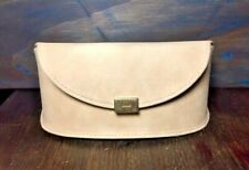 Chloe Sunglasses Eyeglass Case Tan Colored Magnetic Snap Closure Soft Suede
