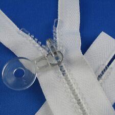 Reißverschluß 10 cm weiß  Kunststoffzähne  nicht teilbar