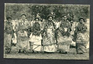 FIJI,LEVUKA DANCING GIRLS,BW,UN,PUB HEDEMANN & CO.