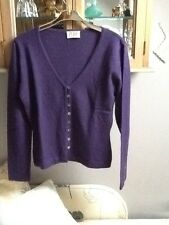 Pure purple cashmere cardigan UK 12