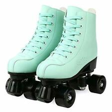 New listing Roller Skates for Women Men High Top PU Leather Classic Double-Row Roller Ska...