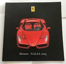 2003 Ferrari Enzo NAIAS Press Brochure 24pages 575M Maranello 456M 360 Challenge