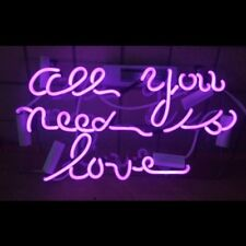 """13"""" All You Need is Love Neon Light Sign Home Decor Handcraft Lamp Art Poster Pu"""