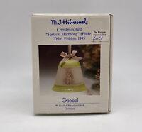 M J Hummel Goebel 1995 Christmas Bell Festival Harmony NIB