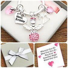 13TH. 15TH. 30TH BIRTHDAY GIFT. SHAMBALLA  ANGEL.BIRTH COLOUR. KEYRING. BOX/CARD