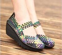 Women Platform Sandals Shoes Women Woven Shoes Flat Shoes Flip Flops casual shoe