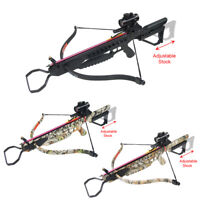 175 lb Black / Camouflage Hunting Crossbow Bow +7 Arrows +Stringer +Wax 150