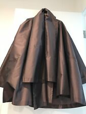 Dolce & Gabbana Silk Double Layer Swing Coat Made In Italy Size Large